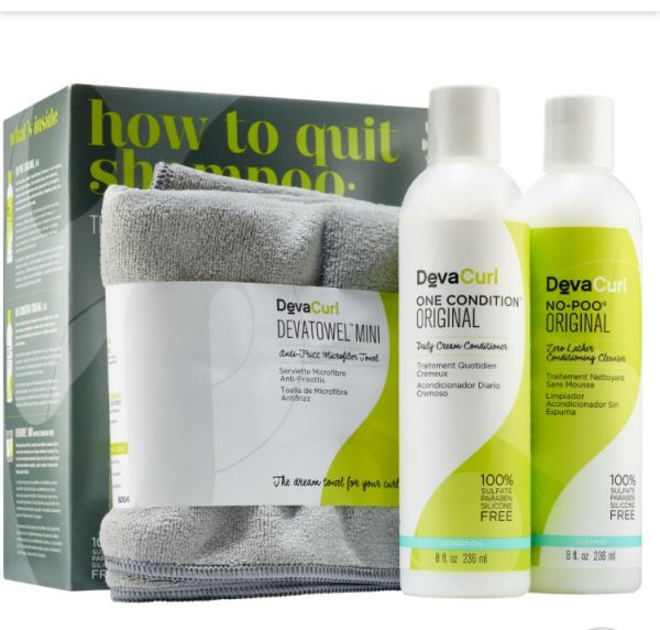 How to Quit Shampoo: The Original Cleanse & Condition Curl Kit devacurl